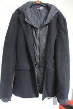 J.C. Rags Pinstripe Overcoat Jacket with Hood Size XXL
