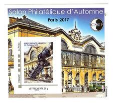 BLOC CNEP N° 75 SALON PHILATELIQUE D'AUTOMNE PARIS GARE MONTPARNASSE