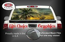 Beach Palm Trees Rear Window Graphic Decal Sticker Truck Car SUV
