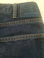 Patagonia Iron Clad Organic Cotton Denim Blue Jeans 31x 34 Straight Fit Ankle