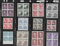 MNH Stamp block collection / German Occupation Czechoslovakia / B a M / WWII