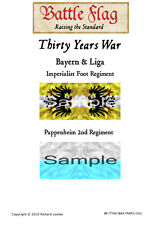 Battle Flag - Bayern & Liga Imp. Flag Pappenheim 2nd Company (30 Years War)-28mm