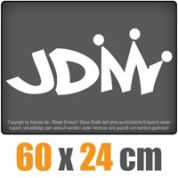 JDM King  chf0159 weiß 60 x 24 cm Heckscheibenaufkleber Scheibe Auto Car