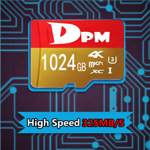 DPM Memory Card 256GB/512/1TB 325MB/S Class10 Fast Flash TF Card with Adapter