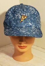 Pizza Slice Hat Blue Tie Dye Baseball Style Cap Strapback Pizza Lover Unisex