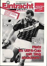 BL 90/91 Eintracht Frankfurt - Borussia Mönchengladbach, 03.04.1991
