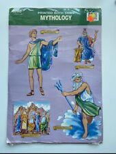 Greek Roman Mythology Die-Cut Cutouts Bulletin Board Vtg Eureka Zeus Mt. Olympus