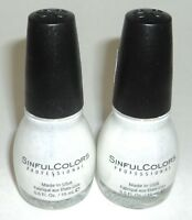2 SINFUL COLORS Nail Color Polish Limited Time Carded Glitter TRUMP CARD 1725