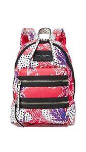 Marc Jacobs Women's Mini Biker Backpack, Red Multi, One Size