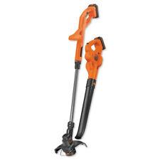 Black & Decker 20V Max String Trimmer/Sweeper Kit w/ 2 Batteries Lcc222 New