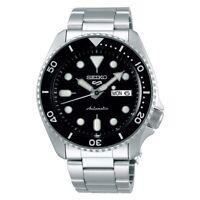 Seiko 5 Sports Full Stainless Steel Black Bezel 42.5mm Automatic Watch SRPD55K1