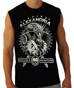 ASKING ALEXANDRIA PUNK ROCK Band Black Muscle Shirt