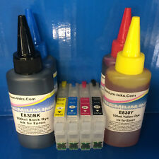 REFILLABLE Cartridges + 400ml INK FOR Epson Expression Home XP442 XP445 29 XL