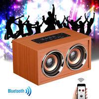 Wooden Bluetooth Wireless Retro Bluetooth 3D Dual Loudspeaker Surround Speaker