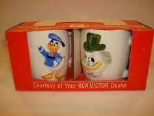 Disney RCA Promo Giveaway Old Dealer Stock Mug Set in Original Box Unopened Mint