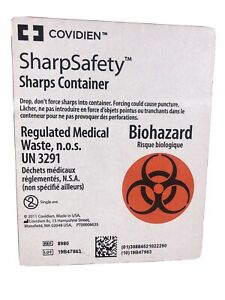 Sharps Container SharpSafety  8 Gallon Red Base/Ref 8980/ Lot Of 4 Pcs