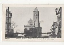 Central Railroad Station Under Water Louisville Kentucky Vintage Postcard 493a