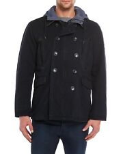 New BEN SHERMAN Military Utility/Field Cotton Canvas Poly-Filled Coat Navy sz L