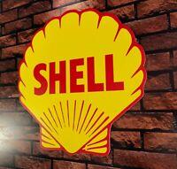 Enseigne Plaque Décorative Garage SHELL logo année 1955 _50 cm x 50 cm