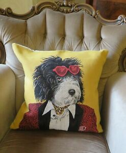 GROOVY DOG ROCKSTAR CUSHION COVER ONLY