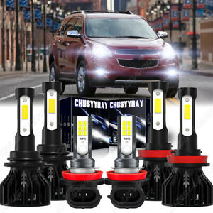 For Chevy Equinox 2010-2017 6x LED Headlight + Fog Light Bulbs Combo Kit 6000K
