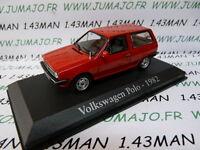 voiture 1/43 RBA IXO : VOLKSWAGEN POLO 1982 3 portes rouge