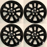 """4 NEW 16"""" GLOSS BLACK Hub cap Wheelcover that FIT 2007-2018 Nissan ALTIMA"""