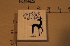 Stampin Up Reindeer Christmas Holiday Rubber Stamp