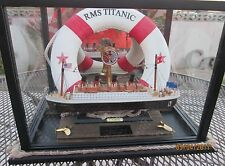 TITANIC MOVIE PROP DISPLAY DECKING AND ROPE BEAUTIFUL