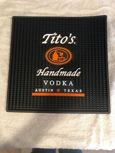TITO'S HANDMADE VODKA LARGE BLACK SERVICE BAR MAT...NEW!!!!!