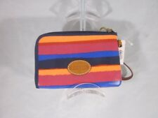 Fossil Wristlet Keyper Stripes Multi Color Zipper Bag Pouch Purse NWT