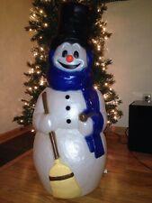 "Last NEW 42"" GF Snowman Blow Mold w/ Blue scarf  Lighted Decoration"