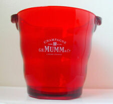 G.H. MUMM CHAMPAGNE ICE BUCKET - Wavy Red Color - Rare