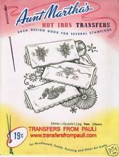 Sparkling New Ideas Retired Aunt Martha's Hot Iron Embroidery Transfer