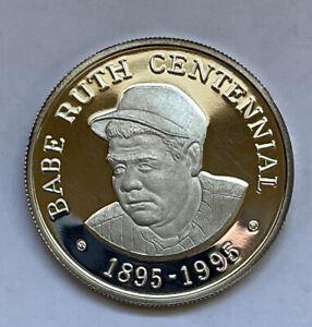 Babe Ruth Centennial Fathers of Baseball Fine Silver Coin Round 1oz One Ounce