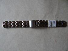 Nuevo Caballeros Correa De Reloj De 18MM Bi-metal con un pequeño pliegue sobre Broche de 6.75 pulgadas