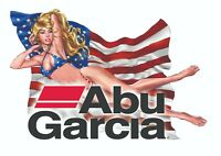 ABU GARCIA STICKER DECAL BASS FISHING REEL LABEL TACKLE BOX TOOLBOX USA FLAG