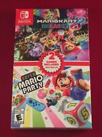 Mario Kart 8 Deluxe + Super Mario Party Double Pack - Nintendo Switch Bundle New