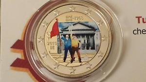 2 euro 2018 BELGIO color farbe couleur belgique belgium belgica belgien mai 1968
