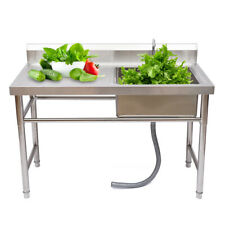 New Listingstainless Steel Sink 1 Compartment Stainless Steel Commercial Kitchen Prep Sink