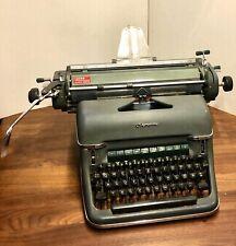 1960 Vintage Olympia SG1 Super De Luxe German Keyword Typewriter Green Germany