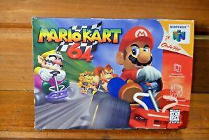 Vintage Nintendo 64 MARIO KART 64 Authentic BOX ONLY