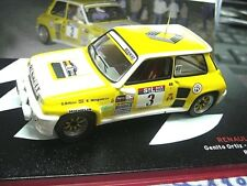RENAULT 5 Turbo Rallye Spain #3 RACE Ortiz 1983 SP Red Renault IXO altaya 1:43