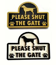 Labrador - Please Shut The Gate - 3D Dog Plaque - House Garden Door Wall Sign