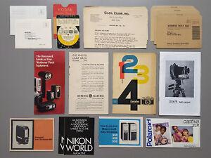 Vintage Photography Brochures Manuals Zeiss Kodak Honeywell Nikon Polaroid MORE
