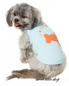 New Martha Stewart Dog Puppy Large Hungry Shark Sea Blue Tank Top Tee Shirt Top