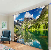 Magic Mushroom House World 3D Blockout Photo Printing Curtains Draps Fabric Wind