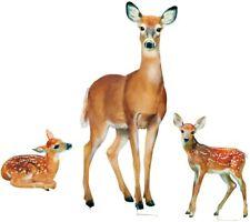 Deer garden stakes realistic for garden or yard summer