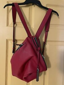 Women's Leather Red Vince Camuto Handbag Backpack