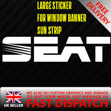 SEAT Sticker Badge for Sun strip Vinyl Decal Banner Sponsor Visor DUB DRIFT RACE